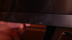 Electrical Tape over tv