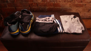Clothes prepared for workout next morning